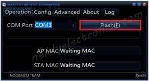 nodeMCU firmware - nodeMCU flasher