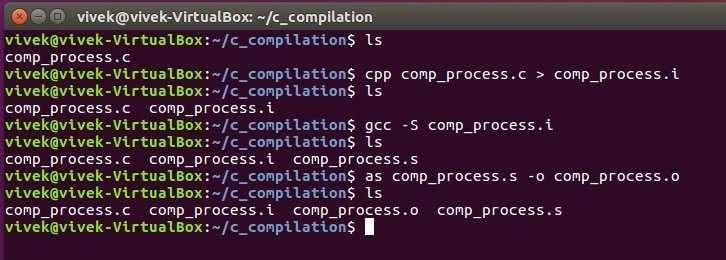 Generation of .o file after assembler