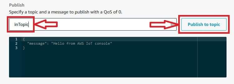 AWS IoT Publish to Topic