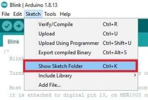 arduino show stetch folder
