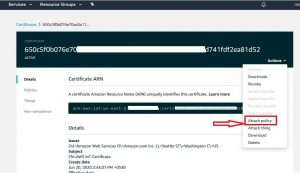 attach AWS IoT Policy to Certificate