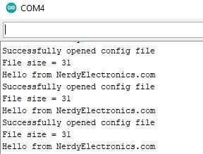 NodeMCU SPIFFS serial output