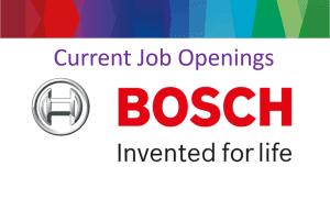 Job openings at Bosch