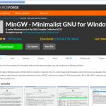 Install MinGW on Windows for make